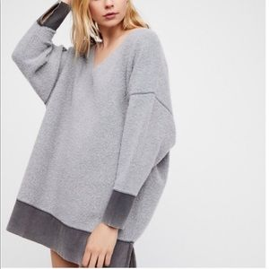 Free People fuzzy oversized pullover (S)